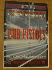 Dub Pistols - Glasgow nov.2013 tour concert gig poster