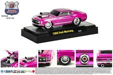 PURPLE 1969 FORD MUSTANG GROUND POUNDER M2MACHINES 1:64 SCALE DIECAST METAL CAR