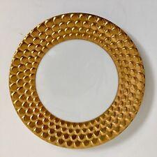 """L'OBJET Aegean Desert Plate 9"""" 24 K Gold"""