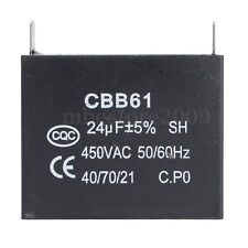 CBB61 Capacitor 24uF 24MFD 450V AC 450 VAC 50/60HZ Fits 400/350/300/250VAC UL/RU