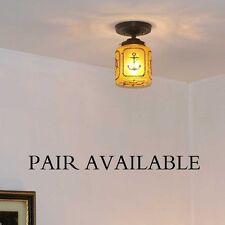 877 Vintage 50s 60s CEILING LIGHT lamp fixture porch hall MARITIME NAUTICAL