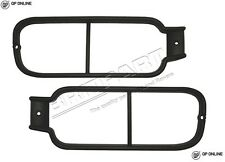 DISCOVERY 2 REAR BUMPER LIGHT GUARDS PAIR BLACK BRAND NEW VUB500520