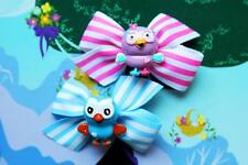 Hootabelle Giggle and Hoot Inspired Girls Handmade Ribbon Party Dress Hair Clips