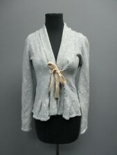 ODD MOLLY Blue Long Sleeves Tie Front Casual Pattern Blazer NWT Sz 1 EE1178