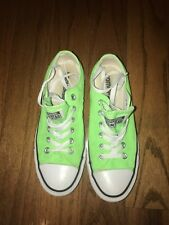 Converse All Star Chuck Taylor Neon Green Shoes Woman's Size 7 Men's Size 5