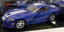 Burago 1/18 Scale Diecast - 3330 Dodge Viper GTS Coupe 1996 Blue