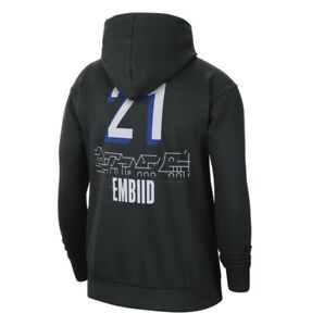 Nike Philadelphia 76ers City Edition Joel Embiid Pullover Hoodie, Men's Large