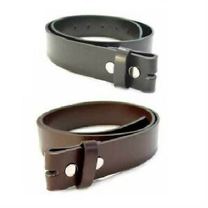 Leather Belt for Buckles Black or Brown Sizes  M ~ L ~ XL ~ 2XL ~ 4XL