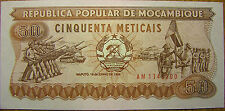 New listing Mozambique 1986 50 Mozambican Meticais Banknote Paper Money Ak74 Kalashnikov Unc