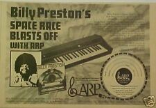 1974 Billy Preston Album/Record ARP Music Synthesizers