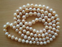 9mm Pink Freshwater Baroque Pearl Opera Necklace -nk51