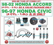 TUNE UP KITS 98-02 ACCORD 96 CIVIC: spark plug wire set distributor cap & rotor