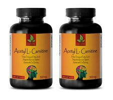 ACETYL L-CARNITINE - Transports Fatty Acids - Boosts Cellular Energy (2 bottles)