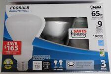 Feit ESL15BR30/BW/3 CFL Flood Light Bulbs 3pk ECOBULB Daylight 65W