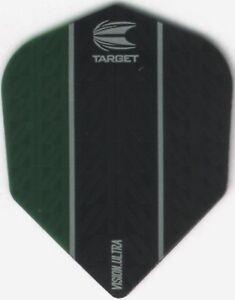 Green & Black Vision Ultra Target Dart Flights: 3 per set