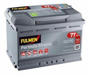 Batterie démarrage voiture Fulmen FA770 12v 77ah 760A 278x175x190mm varta E44