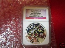 2013 P Australia Colorized Year of the Snake NGC PF70 First 500 .999 Silver coin
