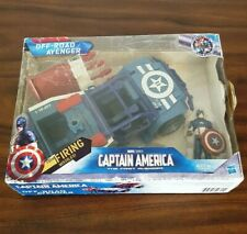 "2010 Marvel Captain America Off-Road Avenger Vehicle 9"" & Figure 4"" Great Condit"