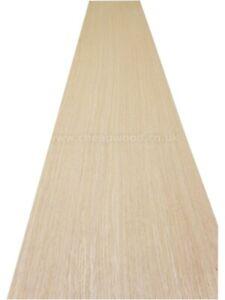 "American White Oak Wood Veneer  2800mm x 320mm / 110,2"" x 12,2""  Flexible Wood"