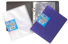 A5 Slim Raccoglitore ad anelli LIBRO + 10 in plastica Punzonati Tasche chiare qualità piccola cartella