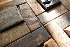 Wood Wall tiles, Old boat Mosaic, Wall Decor for cafe pub bar & RESTAURANT