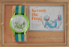 Vintage 1979 Picco Kermit Frog Jim Henson Muppets Character Wind Up Watch Box