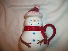 Starbucks Holiday Snowman Mug with Lid 2006