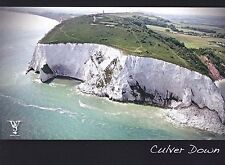 POSTCARD CULVER DOWN, ISLE OF WIGHT AERIAL VIEW OF BEMBRIDGE. ( CLIFF FALL )