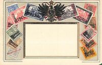 Stamp Card Postcard Showing German Postage Stamps~107966