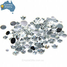 DalCrystals Iron On Hot Fix Large 7mm Crystal Clear FREE GIFT