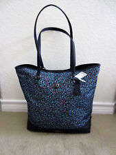 New Women's Coach F59435 Ranch Floral Nylon/Leather Tote $295