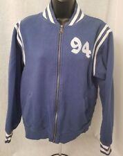 Old Navy Boys Blue White 94 Zipper Varsity Style Jacket Coat Size XL
