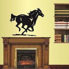 Wall Vinyl Decal Running Mustang Horse Stallion Animal Art Wall Sticker 1838