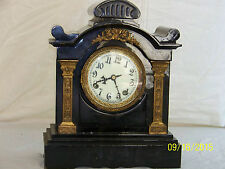 """Beautiful"" Antique New Haven Cast Iron Mantle Clock"