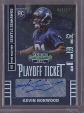 2014 Contenders Playoff Ticket Kevin Norwood Auto Rc Serial # to 199