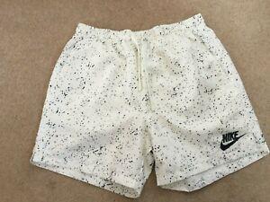 Nike Swim Shorts. Ivory and Black. Size Medium. New