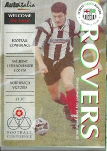 FOREST GREEN ROVERS V NORTHWICH VICTORIA 14/11/1998 CONFERENCE  (12)