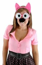 Hoops & Yoyo HOOPS Pink Rabbit Glasses Headband Nose Tails Costume 4pc Mask NEW