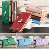 Women Clutch Leather Wallet Long Card Holder Phone Bag Case Purse Handbag Pretty