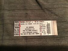 2013 Ed Sheeran concert ticket