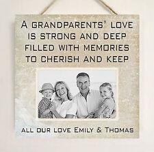 I nonni Personalizzato Nanny Nonna Grandad Regalo Placca Aggiungi la tua foto W280