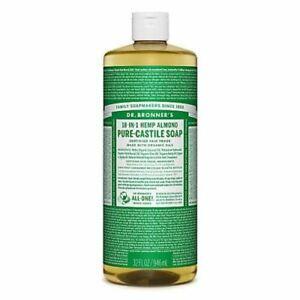 Dr Bronner Org Almond Castile Liquid Soap 946ml