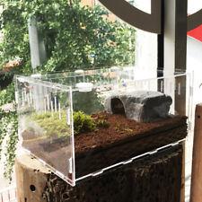 Reptile Insect Spider Acrylic Transparent Breeding Box Vivarium Lid 29X19.6X15cm