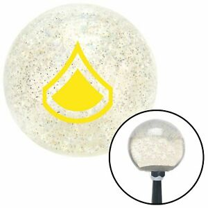 Yellow Private First Class Clear Metal Flake Shift Knob with M16 x 1.5 Insert