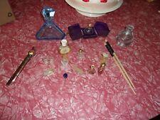 Lot vintage vanity items perfume bottles hair stick