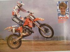 Centerfold Poster Honda 125 1985 #8 Strijbos + Honda 250 1985 #21 van Doorn