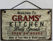 Grams s Sign Kitchen Grandma Mom Diner House Bake Cook Cookie Grand Parent Home