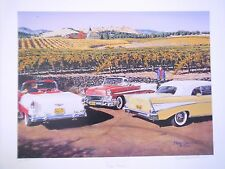 1957 56 Chevy Chevrolet Vintage Napa Valley Wine Mark Davidson Artist Print