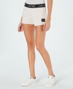 Calvin Klein Womens Performance Logo-print Shorts Size: Large
