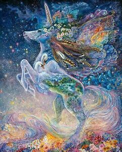 Large Fabric Picture Panel, Unicorn Fantasy Celestial, 100% Cotton by 3 Wishes.